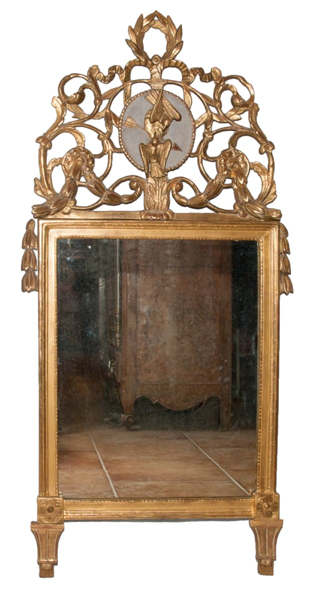 miroir proven al en bois sculpt et dor poque louis xvi xviiie si cle. Black Bedroom Furniture Sets. Home Design Ideas