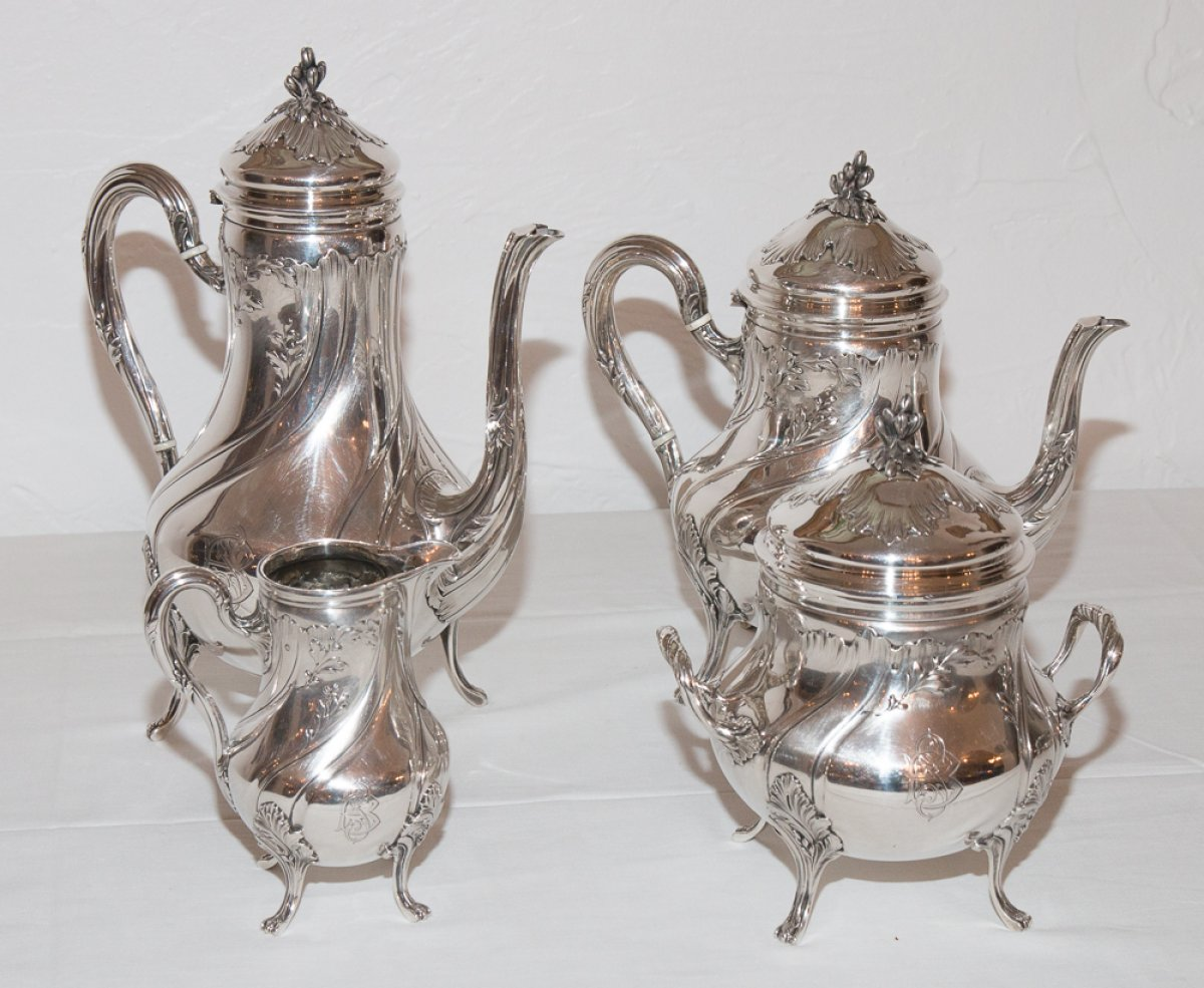 French Sterling Silver Tea Service By Silversmith 201 Mile