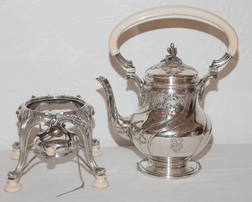 French sterling Silver tea service by Silversmith Émile Puiforcat (1857-1927) -