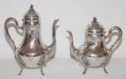 Antiquités - French sterling Silver tea service by Silversmith Émile Puiforcat (1857-1927)