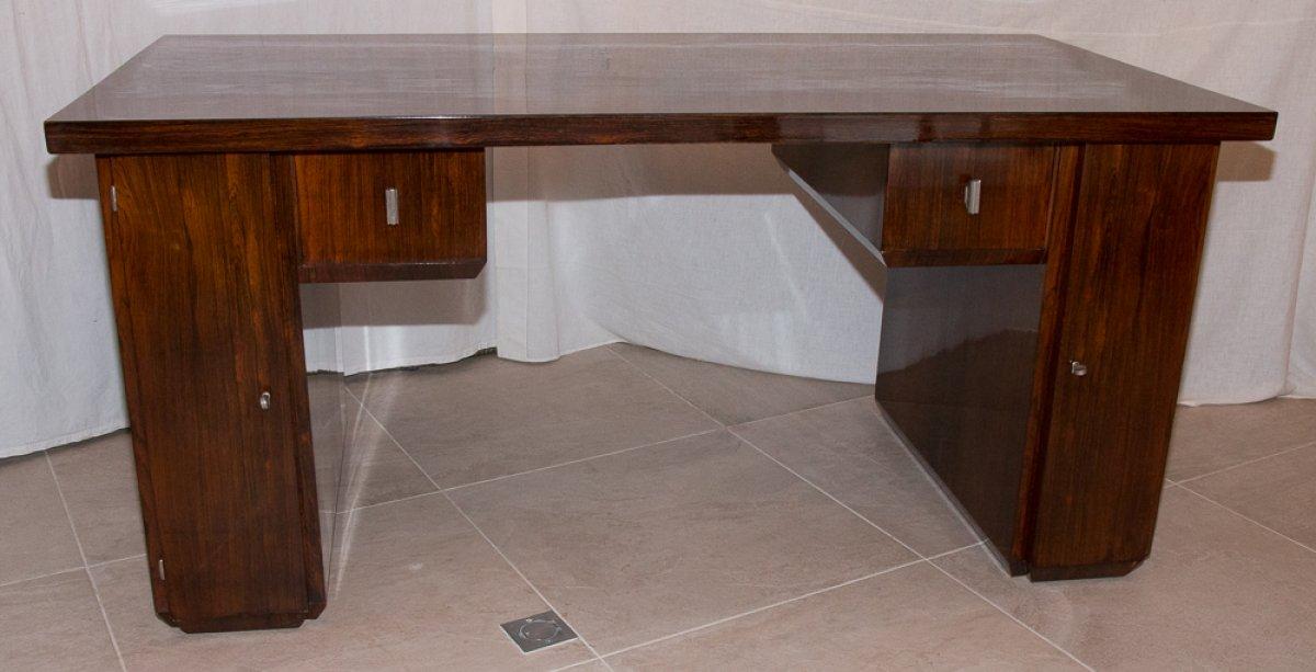 bureau en palissandre poque art d co circa 1920 xxe si cle. Black Bedroom Furniture Sets. Home Design Ideas