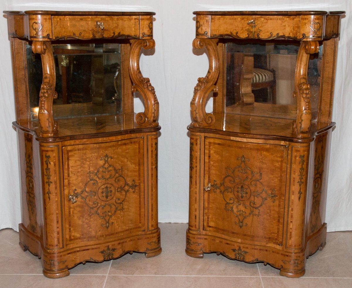 mobilier meuble dappoint paire de meubles dappui poque charles x