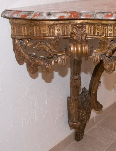 Antiquités - French Giltwood wall console table, early 19th century