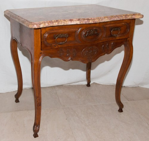 Mobilier Console - Table à gibier en noyer époque Louis XV