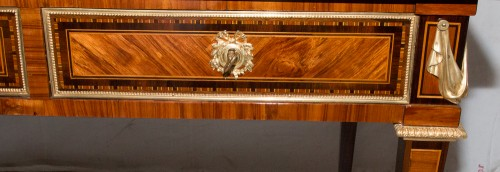 Louis XVI - Grand bureau plat époque Louis XVI