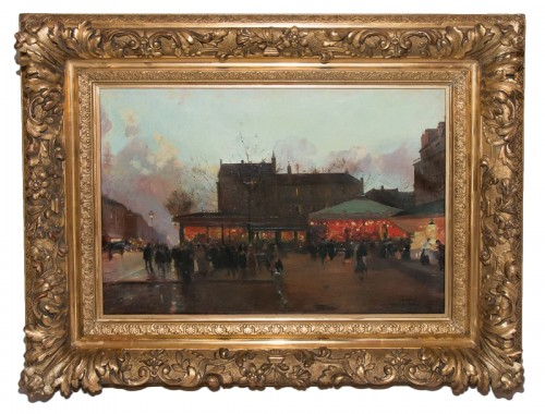 Place animée de Paris - Eugène Galien LALOUE (1854-1941)