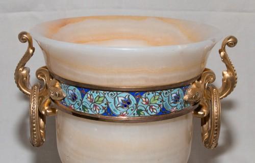 Antiquités - Vase in onyx and gilded bronze - Eugène Cornu (1827- 1899)
