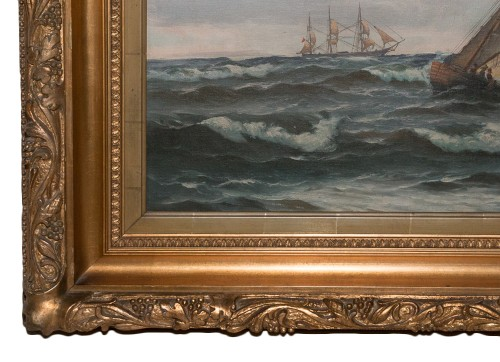 19th century - Large Marine - Vilhelm BILLE (1864-1908)
