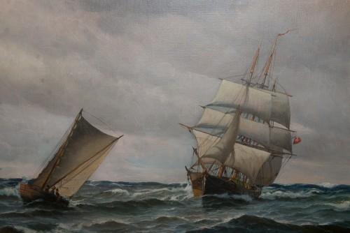 Large Marine - Vilhelm BILLE (1864-1908) -