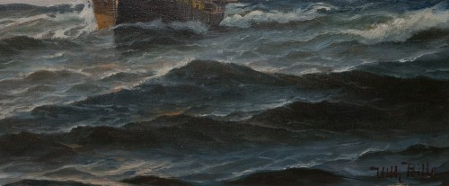 Antiquités - Large Marine - Vilhelm BILLE (1864-1908)