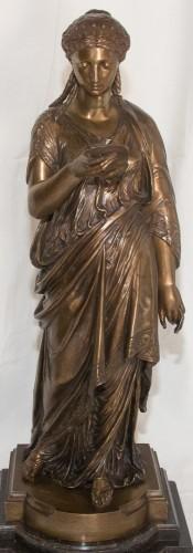 The reader - Jean-Louis Grégoire (1840-1890) - Sculpture Style