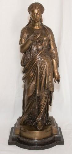 Sculpture  - The reader - Jean-Louis Grégoire (1840-1890)