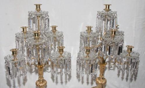 Pair of girandoles signed Baccarat Circa 1880 - Lighting Style