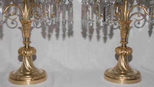 Lighting  - Pair of girandoles signed Baccarat Circa 1880