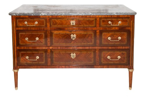 Louis XVI period chest of drawers stamped J.B.VASSOU