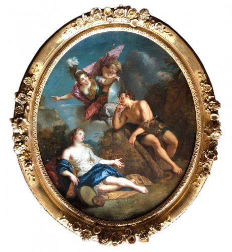 Hercules between Vice and Virtue - Entourage of Charles of the Pit (1636-1716)