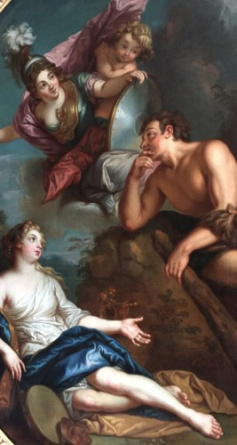 Paintings & Drawings  - Hercules between Vice and Virtue - Entourage of Charles of the Pit (1636-1716)