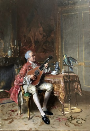 The music lesson  - Bernard-Louis Borione (1865-1920) - Paintings & Drawings Style Napoléon III