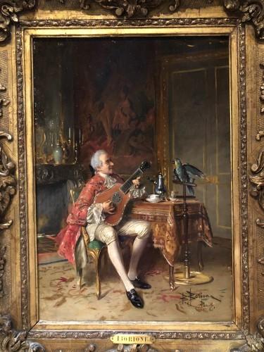 The music lesson  - Bernard-Louis Borione (1865-1920) -
