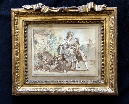 Jean-Baptiste-Huet (1745.1811) - The donkey ride - Paintings & Drawings Style Louis XV