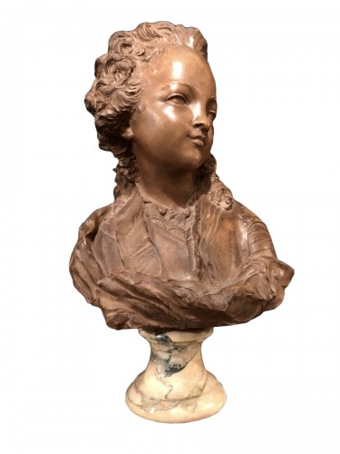 Terracotta Bust of Louis XV - Fernand Cian
