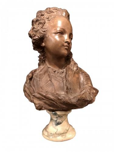 Terracotta Bust of Louis XV - Fernand Cian