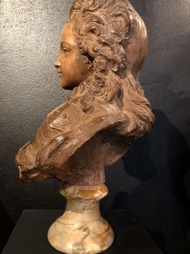 Sculpture  - Terracotta Bust of Louis XV - Fernand Cian