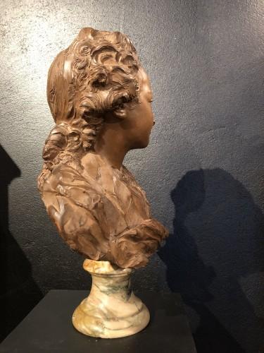 20th century - Terracotta Bust of Louis XV - Fernand Cian