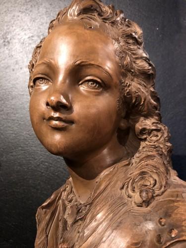 Terracotta Bust of Louis XV - Fernand Cian - Art nouveau
