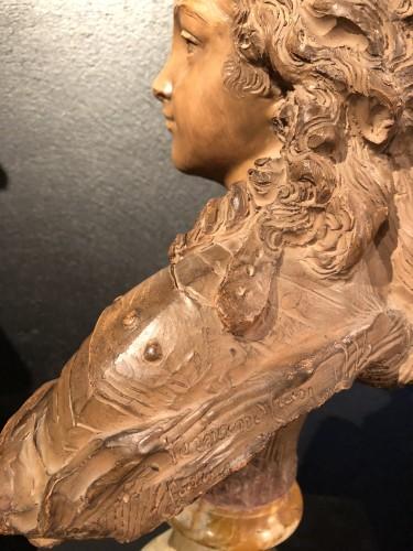 Antiquités - Terracotta Bust of Louis XV - Fernand Cian