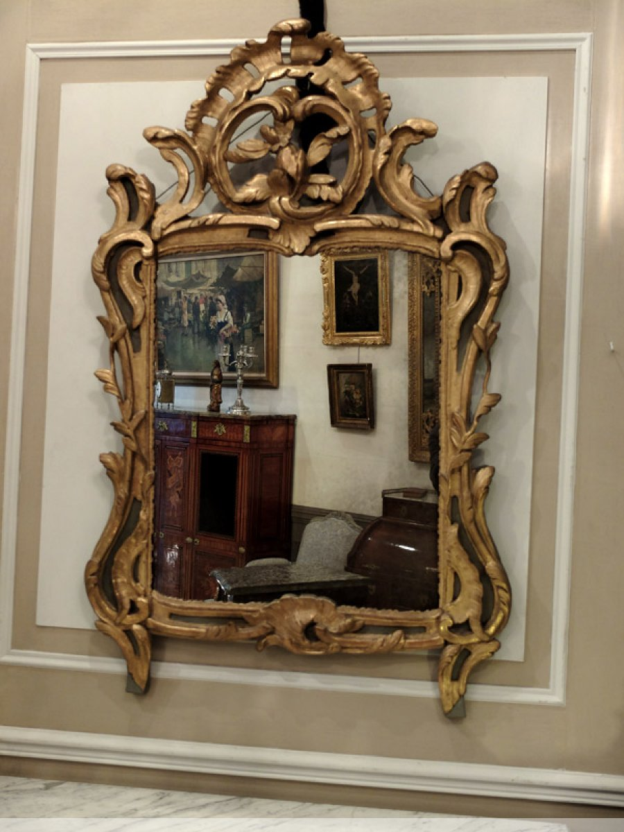 miroir proven al d poque louis xv xviiie si cle. Black Bedroom Furniture Sets. Home Design Ideas