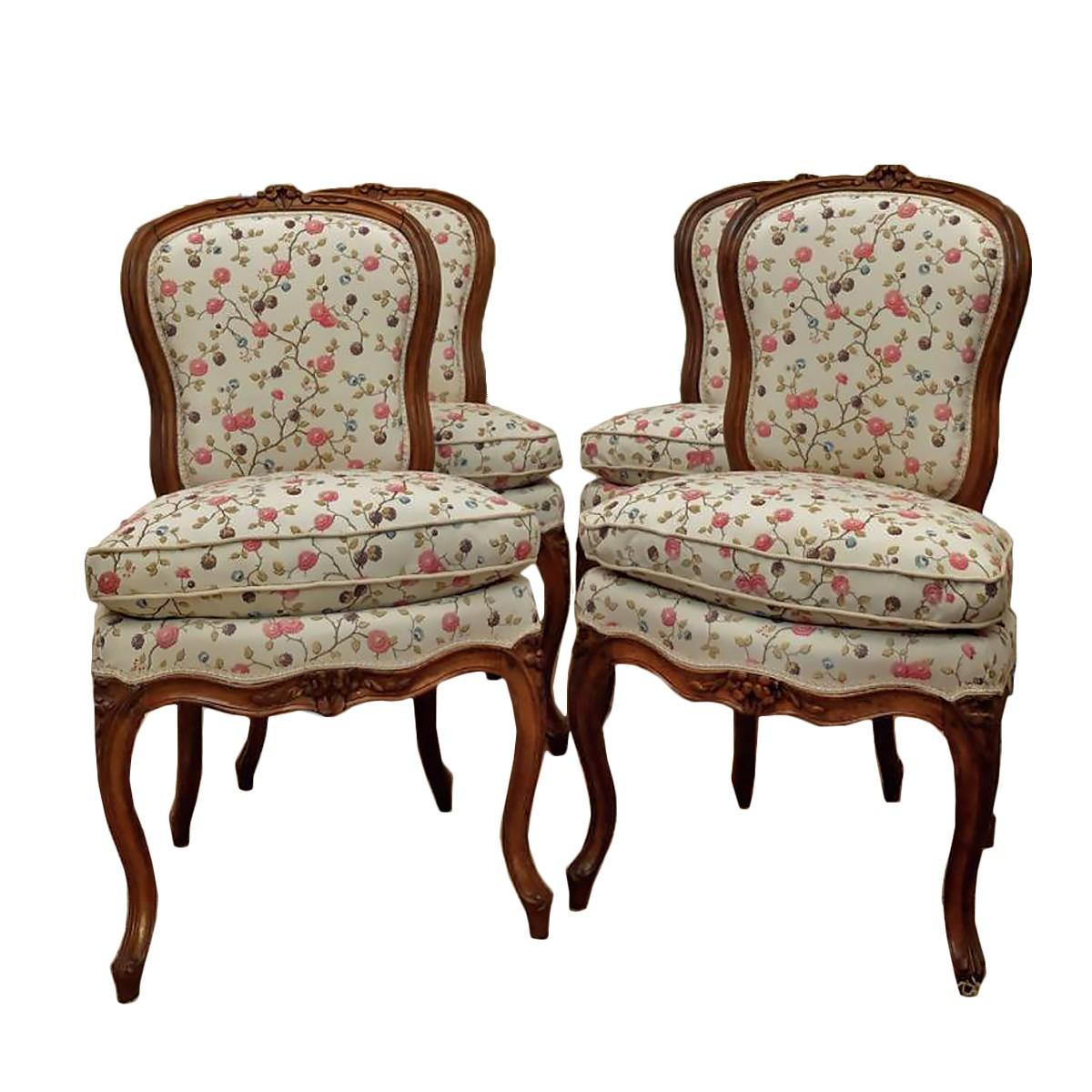 Style De Chaises Anciennes suite de quatre chaises d'époque louis xv