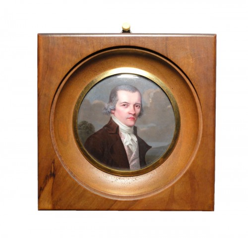 Portrait miniature de Mr Moncand Roux