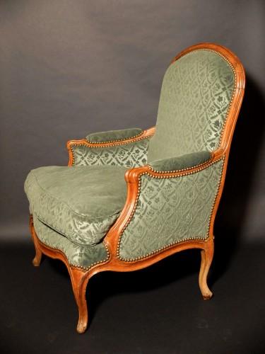 Bergère à la reine stamped J.B.BOULARD - Seating Style Louis XV