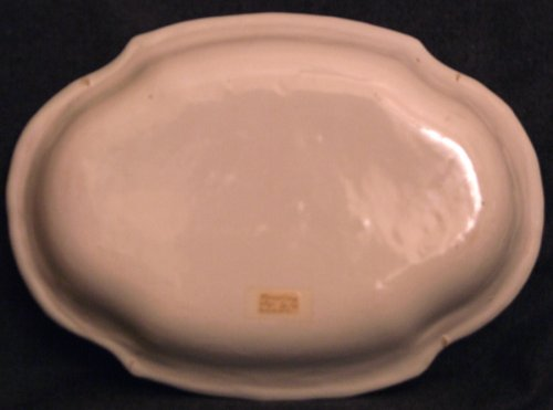 Porcelain & Faience  - Oblong Dish Moustiers faience 18th century monochrome ocher