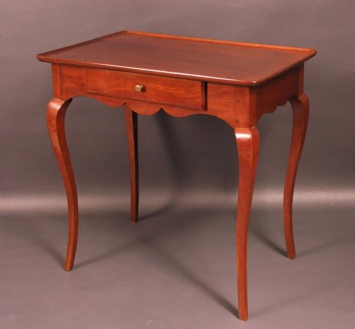 "Bordelaise table called ""cabaret"" Cuban mahogany antique eighteenth"