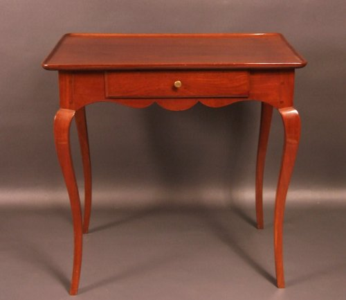"Furniture  - Bordelaise table called ""cabaret"" Cuban mahogany antique eighteenth"