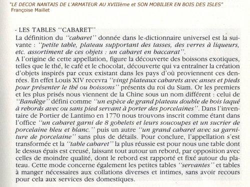 "Bordelaise table called ""cabaret"" Cuban mahogany antique eighteenth - Louis XV"