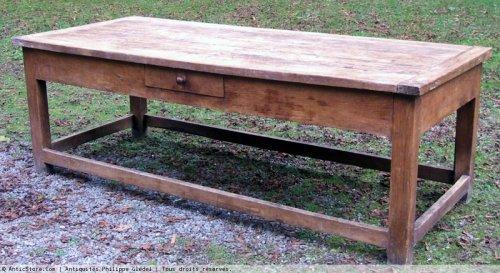 """19th century - Large and wide kitchen table  said """"d'office de propriété"""""""