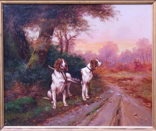 Hunting Dogs - Louis Lartigau - Paintings & Drawings Style