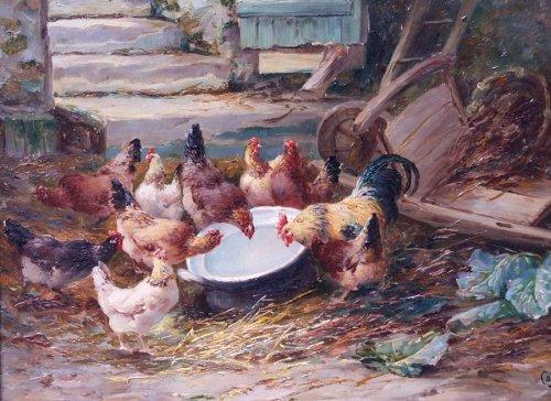 Paintings & Drawings  - Barnyard - Jacques Van Coppenolle