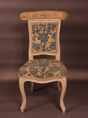 "Chair ""voyeuse d'homme"" called ""ponteuse"" by JN BLANCHARD - XVIIIth"