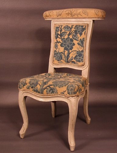 "Seating  - Chair ""voyeuse d'homme"" called ""ponteuse"" by JN BLANCHARD - XVIIIth"