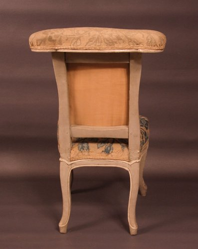 "18th century - Chair ""voyeuse d'homme"" called ""ponteuse"" by JN BLANCHARD - XVIIIth"