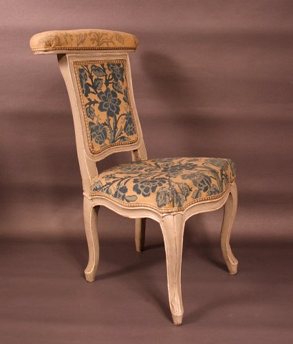 "Chair ""voyeuse d'homme"" called ""ponteuse"" by JN BLANCHARD - XVIIIth - Louis XV"