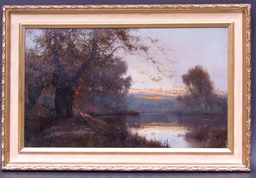 Pair of landscapes signed by Alfred Fontville Breanski - Burnham Beeches