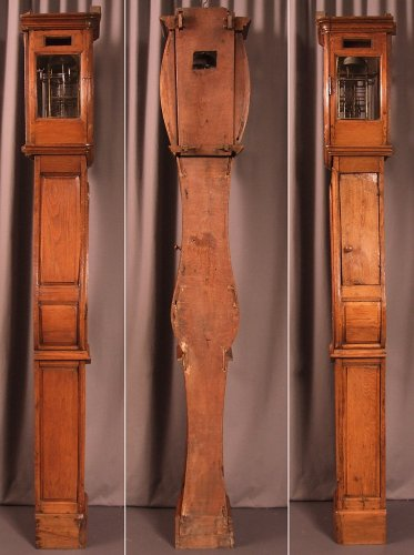 "18th century - A Late 18th century ""Demoiselle de Honfleur"" grandfather clock"