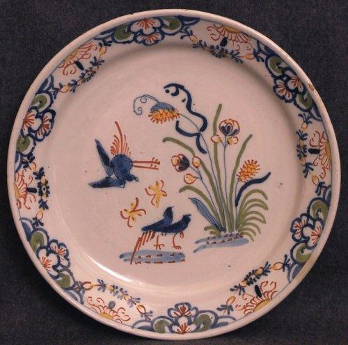 A late 18thC. Lille faience plate