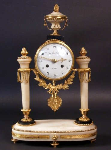 Louis XVI portico clock by Gay clockmaker of the King in Turin