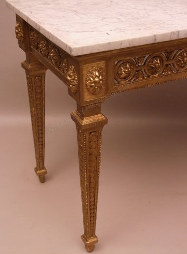 Furniture  - Console table in gilded wood attributed to Pierre Pillot - France Provence 18th century